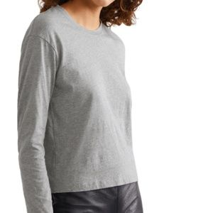 LIKE NEW James Perse Longsleeve fitted gray tshirt